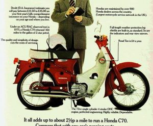 ΙΣΤΟΡΙΑ: Το Honda C 70 πηγαίνει στην Αγγλία το '70